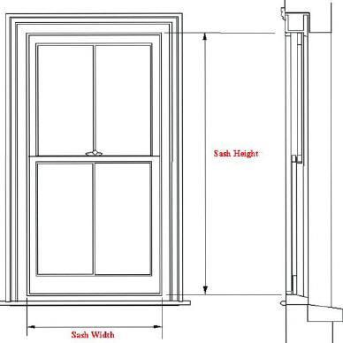 Measuring your window for Window height